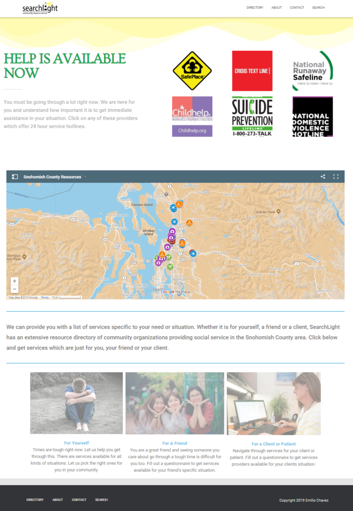 Searchlight Home Page Image